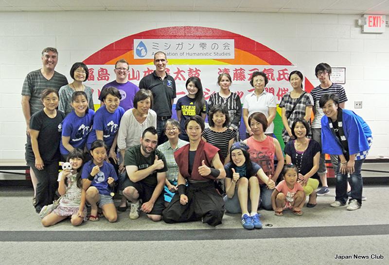 福島原発事故による避難地区の太鼓グループ指導者来訪 1