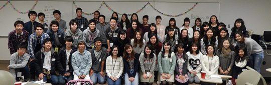 シンシナティ補習校の生徒たちとの記念写真