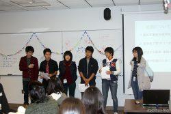交流会での代表者の発表